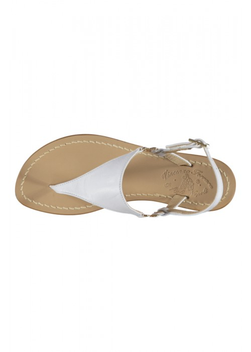 Vincenzo Ferrara - White Leather Flat Thong Sandal