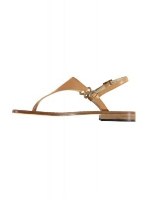 Vincenzo Ferrara - Natural Leather Flat Thong Sandal