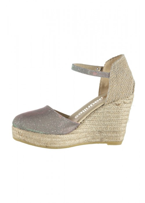 Espadrilles - Reflective High Heel Wedge Espadrille
