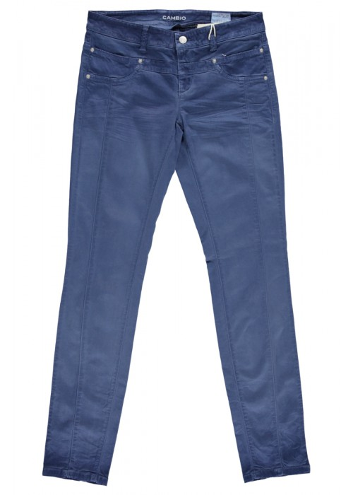 Cambio - Blue tie Dyed 100% Cotton Stretch Pants