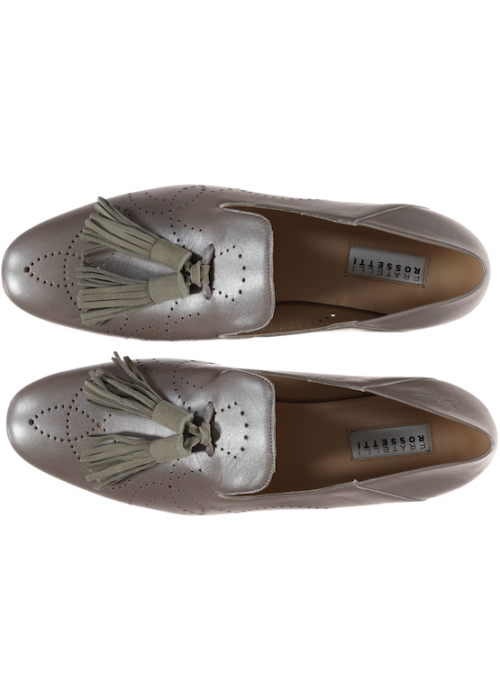 Fratelli Rossetti - Pewter 'Smoke Shoe' With Tassle Detail