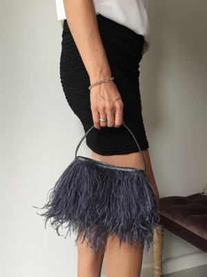 Rarity - Ostrich Feather Evening Bag
