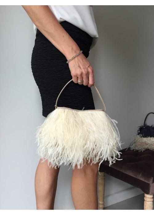 Rarity - Ostrich Evening Feather Bag