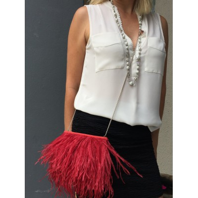 Rarity - Ostrich Feather Evening Sling