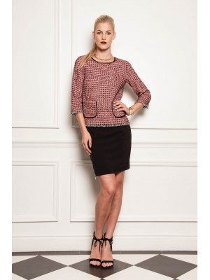 """Fado"" - Tweed Inspired Jumper With Pocket Detail"