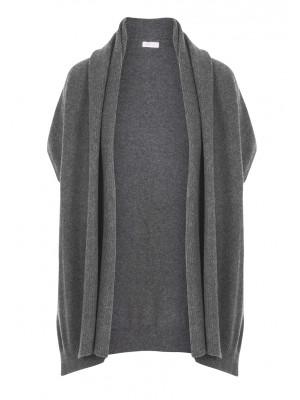 Rossopuro - 100% Woollen Charcoal Grey Waterfall Cardigan
