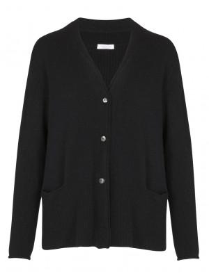 Rossopuro - 100% Woollen Classic Black Cardigan