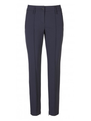 "Cambio - ""Rhona"" - Navy Classic Cut Trousers"