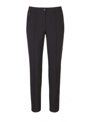 "Cambio -""Ros Zip"" Black Classic Cut Trousers"