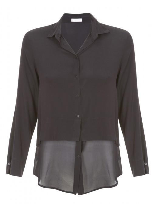 Rossopuro - Light Silk Shirt In Black