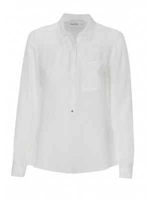 Malvin - Classic Silk Shirt In Cream