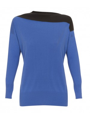 """Odografo"" -  Silk & Cotton Long Sleeved Knit With Boat Neck"