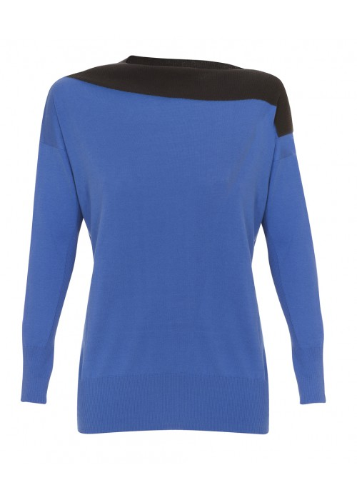 """""""Odografo"""" -  Silk & Cotton Long Sleeved Knit With Boat Neck"""