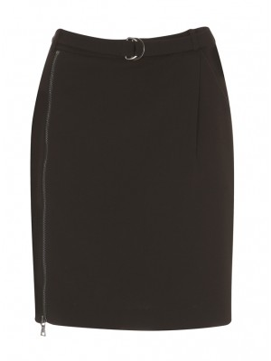 Malvin - Pencil Skirt With Side Pockets & Zip Detail