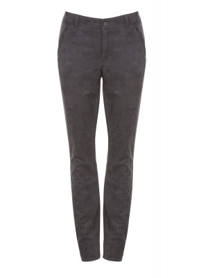 "Cambio - ""Parla Zip"" Slim Fit Suede Look Trousers"