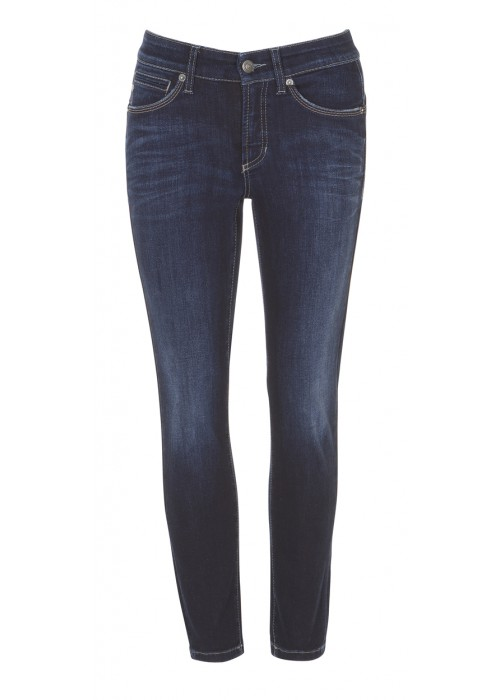 "Cambio - ""Piper Short"" Slim Fit Dark Blue Denim"