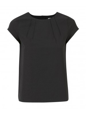 Marella - 'Agiate' 100% Cotton Tee With Pleated Detail At The Back