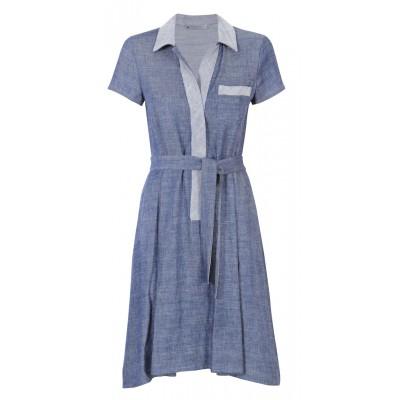 Marella - 'Vallet' Cotton Denim Inspired Shirt Dress