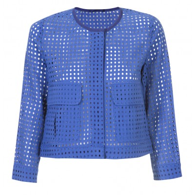 Marella - 'Sora' 100% Cotton Perforated Summer Jacket