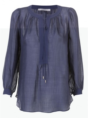 "Marella - ""Sagitta"" Cotton/Wool Tunic With Tie String"