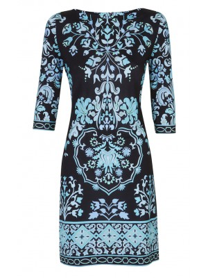 Bessi - 3 Quarter Sleeve Printed Dress