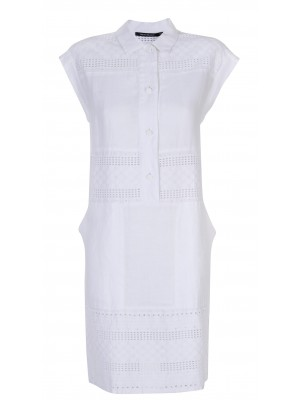 Makeup' 100% Cotton Shirt Dress With Side Pockets
