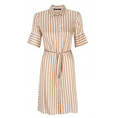 'Magnesio' 100% Silk Shirt Dress With Belt