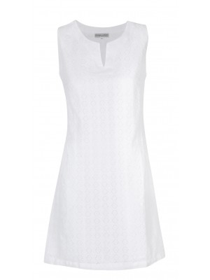 Blitz - 100% Jacquard Linen White Dress