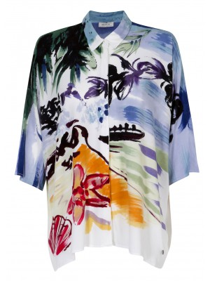 Malvin - Oversized Shirt With Paint Print