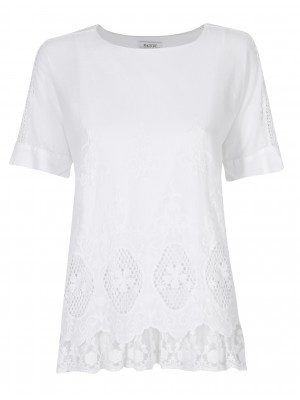 Malvin - 100% Cotton Blouse With Cut Out Detail