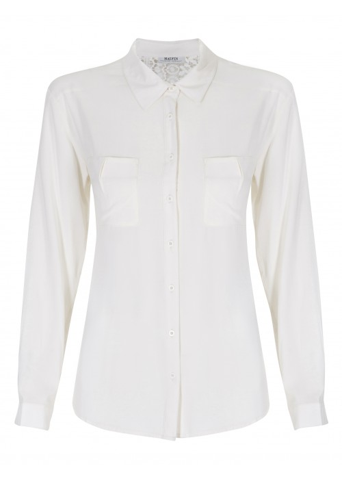 Malvin - Light Weight Shirt With Lace Back