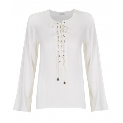 Malvin - Long Sleeve Blouse With Tie Up Detail