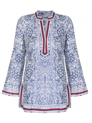 Malvin - 100% Cotton Tunic With Stitch Detail