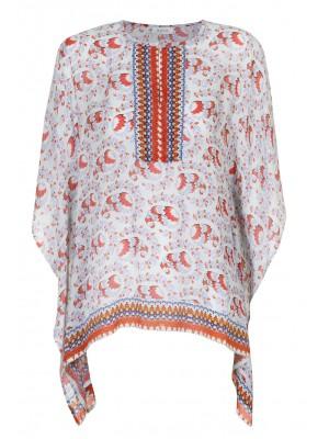 Malvin - Printed Short Poncho