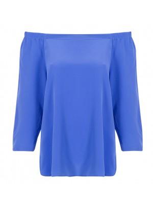 "Marella - ""Helier"" 100% Silk Off The Shoulder Blouse"