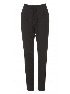 Marella - 'Larix' Relaxed Soft Draw String Trousers In Black
