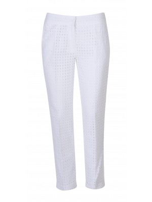 Marella - 'Kartal' 100% Cotton Perforated Straight Cut Pant