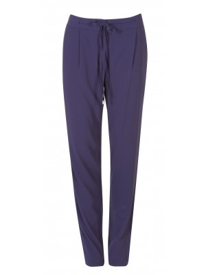 Marella - 'Larix' Relaxed Soft Draw String Trousers In Navy