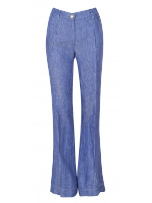 Marella - 'Trendy' Denim Inspired Linen Wide Legged Pant
