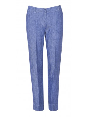 Marella - 'Dioxide' Denim Inspired Linen Straight Cut Pant