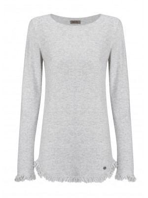 Malvin - Grey Jumper With Fringe