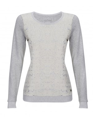 Malvin - 100% Cotton Silver Cuffed Jumper