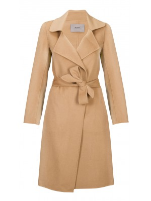 Malvin - 100% Woollen Tan Knee Length Coat