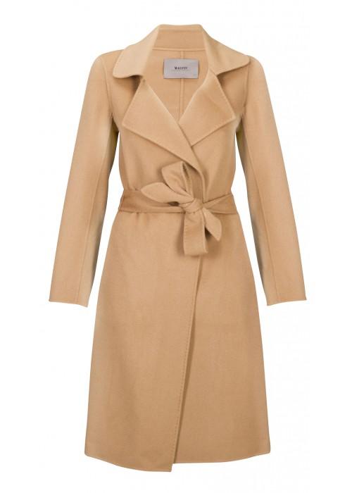 Malvin - 100% Woollen Tan Knee Length Coat