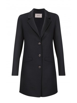 Malvin - 100% Woollen Black longer Length Coat