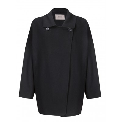Malvin - 100% Woollen Black Oversized Coat