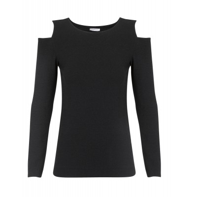 "Marella - ""Carminem"" Cold Shoulder Knit In Black"