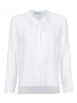 """""""Edda"""" -  White Blouse With Neck Tie"""