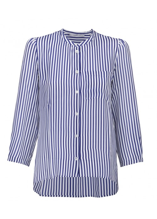 """Abject"" - Silk Stripe Blouse"