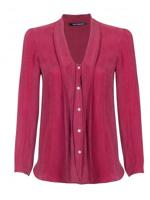 """""""Ebano"""" -  Shirt With Tie Detail In Red"""